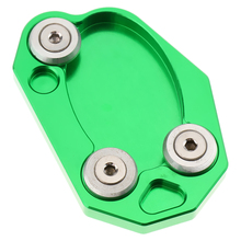 Motorcycle Gear Pad Kickstand Foot Side Stand, Rugged Durable Extension Pad for Kawasaki Z800 Z1000SX ER6