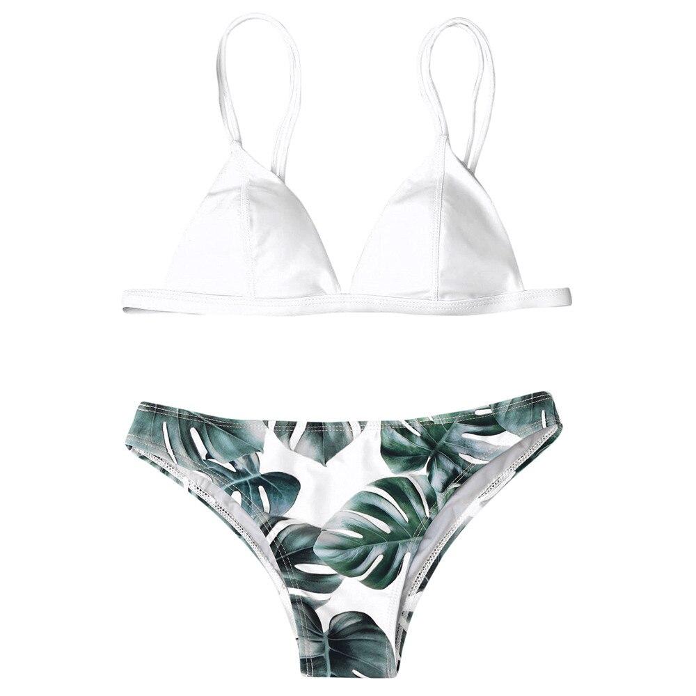 HTB10e8NaUjrK1RkHFNRq6ySvpXa1 Women's Swimming Suit Sexy Bikini Swimsuit Women Swimwear Bikini Set Print Leaves Push-Up Padded Bathing Swimsuit Beachwear