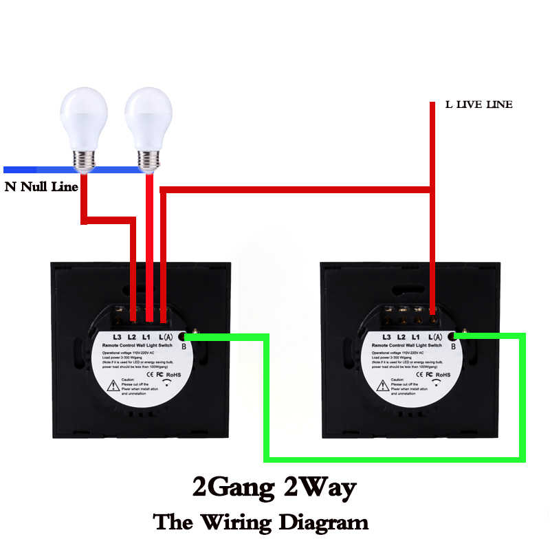 Eu/UK Standar Touch Switch, 1/2/3 Gang 2 Arah Panel Kaca Kristal 220V Single Fireline RF433 Remote Control Lampu Dinding switch