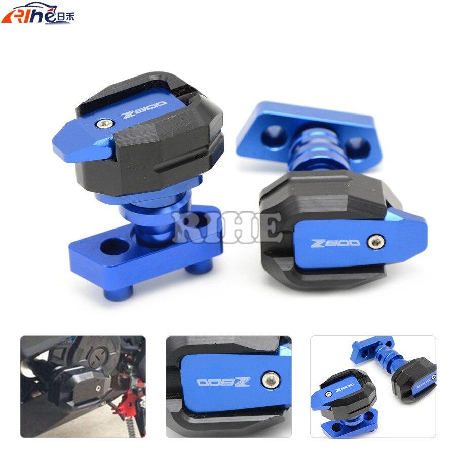все цены на  Motorcycle CNC Aluminum Left and Right Frame Slider Anti Crash Protector 4 colors For KAWASAKI Z800 2013 2014 2015 13 14 15  онлайн