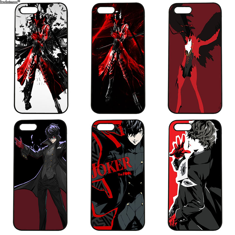 Hard PC Plastic Cover P5 Persona 5 Mobile Phone Cases Fitted for iphone 8 7 6 6S Plus X 5S 5C 5 SE 4 4S iPod Touch 4 5 6 Shell