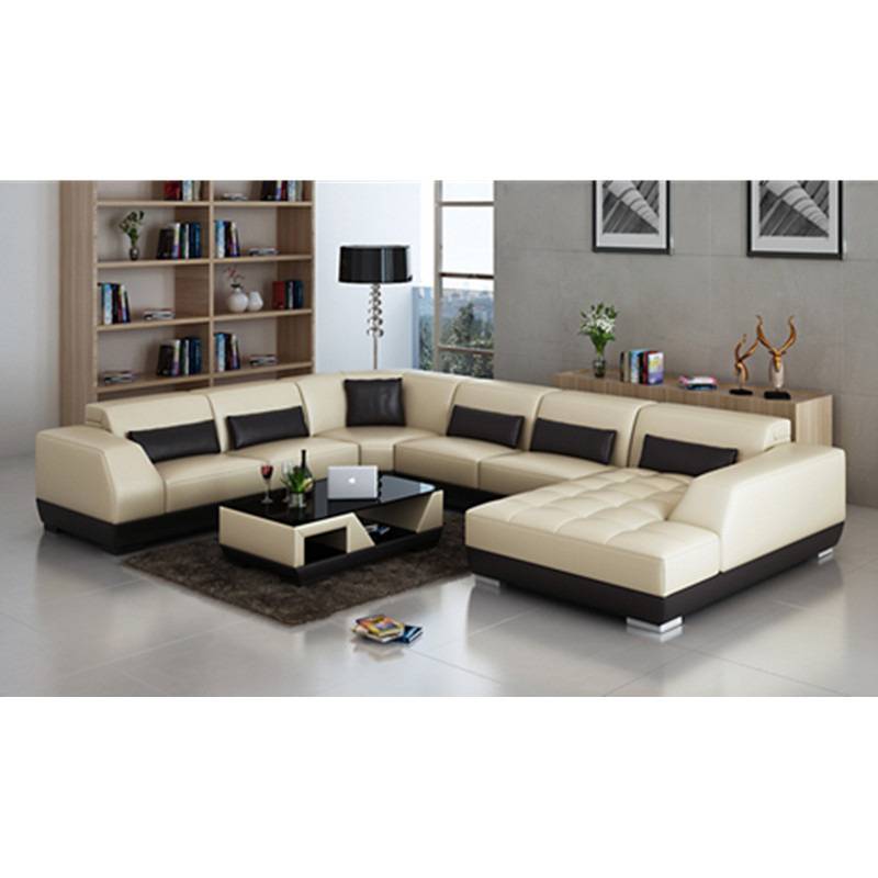 New Fashion chocolate color 5 seats with one sleeper bed leather ...