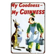 Guinness Tin Sign Metal Painting Vintage Art  Wall Pub House Cafe Garage Home Retro Decor Cuadros Poster SA-3066