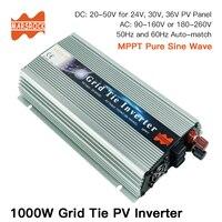1000W Grid Tie Solar Inverter, 20 50V DC to AC 80 260V Pure Sine Wave Inverter for 1000 1200W 24V, 30V, 36V PV or Wind Power