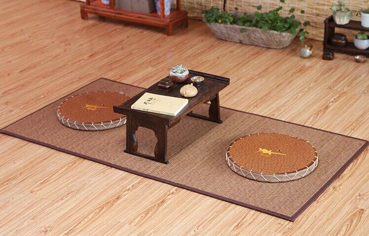 Tatami japonais grand tapis de bambou 180*90 cm Design Oriental Zen étage Yoga matelas tapis pour chambre à coucher tapis en Fiber