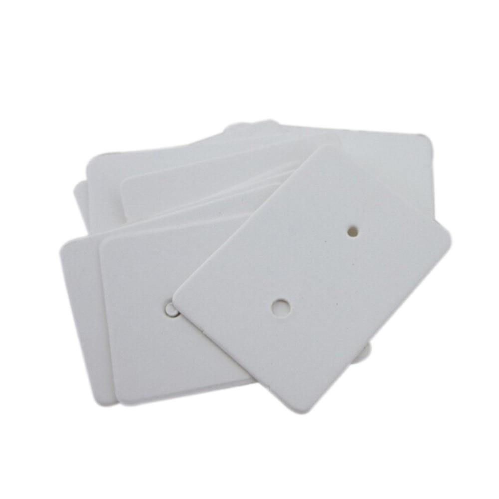 100pcs Display Type Earring Ear Studs Holder Hanging Kraft Paper Cards