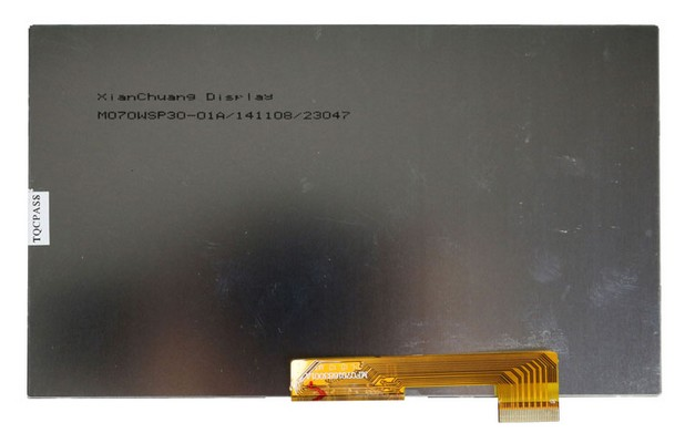 A+ LCD Display Matrix For 7 Supra M72KG TABLET inner 30pins 1024*600 LCD Screen Panel Lens Frame replacement