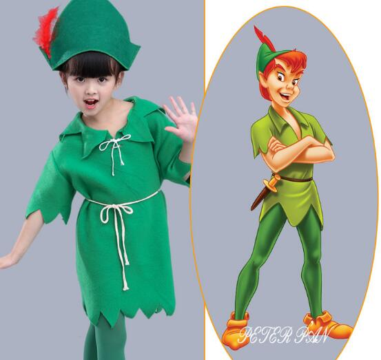 Kids Cosplay Costumes Halloween Christmas Santa Clause Elf Suit Children Uniforms for School Drama Peter Pan Clothes