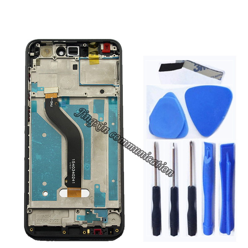 "Image 2 - 5.2 ""Original LCD for Huawei Honor 8 Lite LCD + touch screen replacement For HONOR 8 LITE PRA TL10 PRA LX1 LX3 LCD with frame-in Mobile Phone LCD Screens from Cellphones & Telecommunications"
