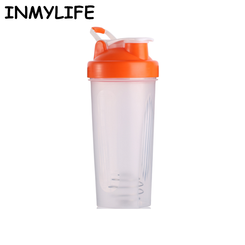 INMYLIFE Multicolors Shaker bottles Sports Water fitness Bottles Protein Powder Blender bottle Nutrition BPA-FREE 500ML/700ML
