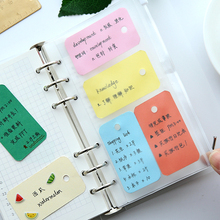 New Kawaii Candy Color Blank Kraft Paper Memo Pads Portable Notepads Words Cards Kids Gift Stationery