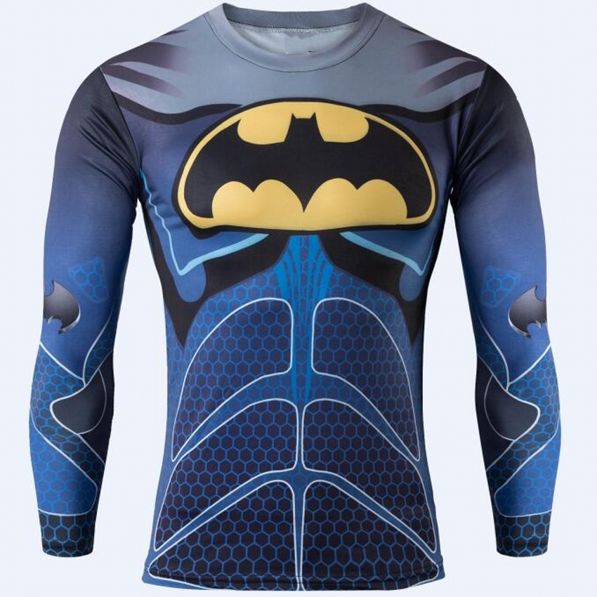 2017 Compression Shirt 3D Captain America Superman T Shirt Fitness Tights Casual Shirts Brand Clothing