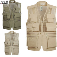 Summer New Breathable Mesh Vest Men Casual Solid Sleeveless Vest Waistcoat With Many Pockets photographer Vest Jacket XL 5XL