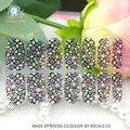 Y5413 Preto Transparente Net Lace Rinestones Adesivo Projeto Da Arte Do Prego Adesivos Doce Cor Bola De Vidro Decoração de Unhas Wraps Decal