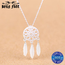 necklaces pendants silver 925 pendant necklace leaf lady collares jewellery making supplies joyas de plata 925 jewlery choker(China)