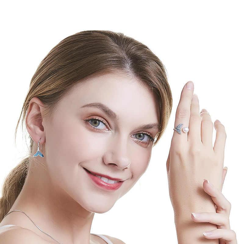 Cauuev ไข่มุกธรรมชาติแท้งานแต่งงานแหวนแฟชั่น 925 เงินสเตอร์ลิงผู้หญิง Zircon แหวนเครื่องประดับของขวัญ