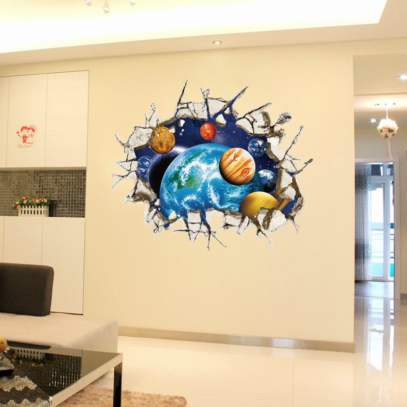 Attractive Visual Wall Art In 3d Ensign - Wall Art Design ...