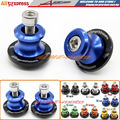 Motorcycle Accessories CNC Aluminum Swingarm Sliders Spools 8mm For Suzuki HAYABUSA GSXR1300 1999-2015 Blue
