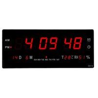 AM/PM display digital LED alarm Clock with thermometer Home desktop electric calendars clock livingroom modern digital clock