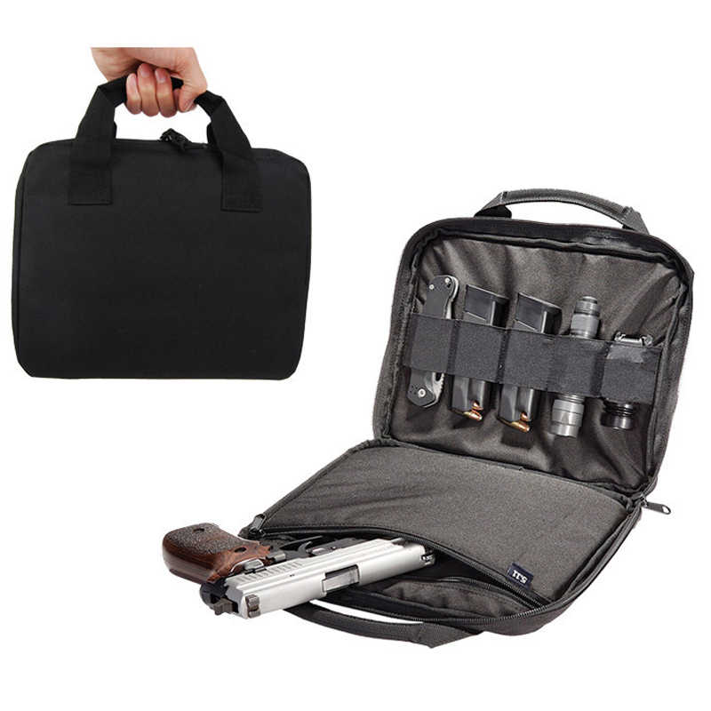 "12 ""Nylon tático Militar Pistol Carry Bag Portátil Revista Pistola Revólver Estojo Bolsa Acolchoado Durável Carry Case"