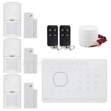 DIYSECUR Wireless Wired GSM Home Security Burglar Alarm System IOS Android App Touch Panel