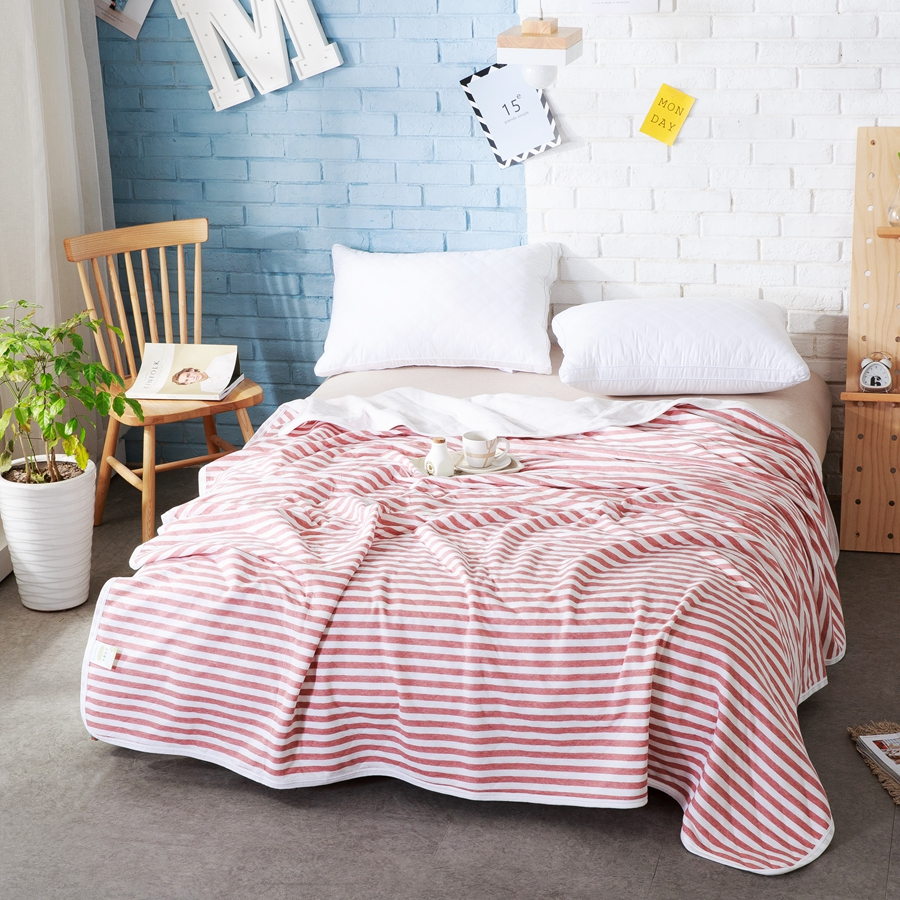 online buy wholesale bedspreads comforters quilts from china  - washable  knitted cotton xcm xcmsummer quilts breathablestripe comforters blanketssoft thin bedspreads(china