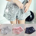 Toddler 2-6 Y Kids Girl Sequins Shorts Short Pants Tie Bow Elastic Waist Trousers PY2 X5