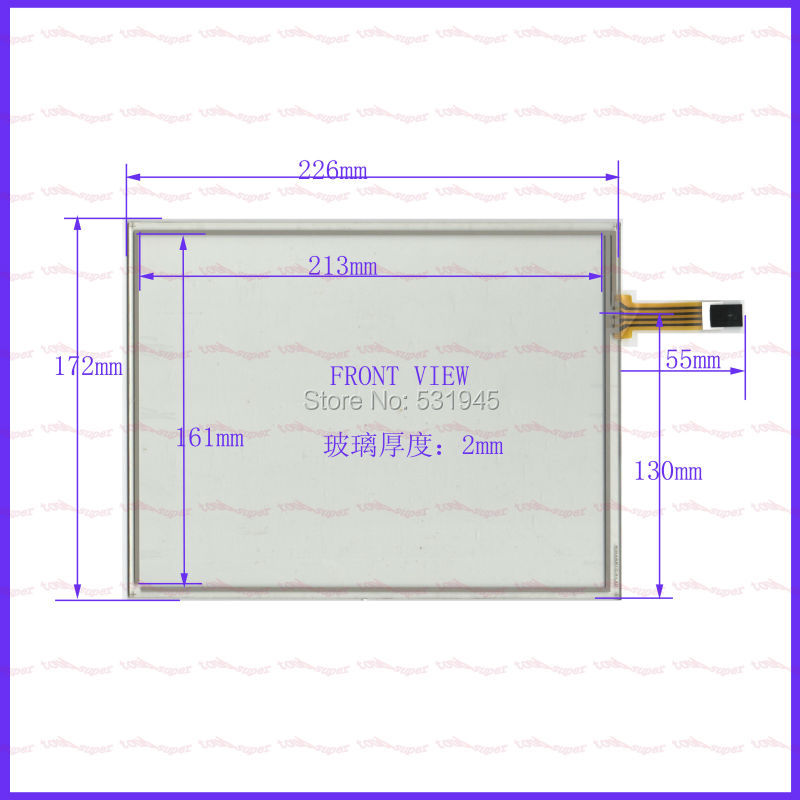 ZhiYuSun 226*173  TOUCH SCREEN use LCD display and commercial  NEW 226mm*17mm TOUCH SENSOR 10.4 inch 4-wire zhiyusun new 10 4 inch touch screen 239 189 for industry applications 239mm 189mm 8 lins 47f8104025 r13 commercial use