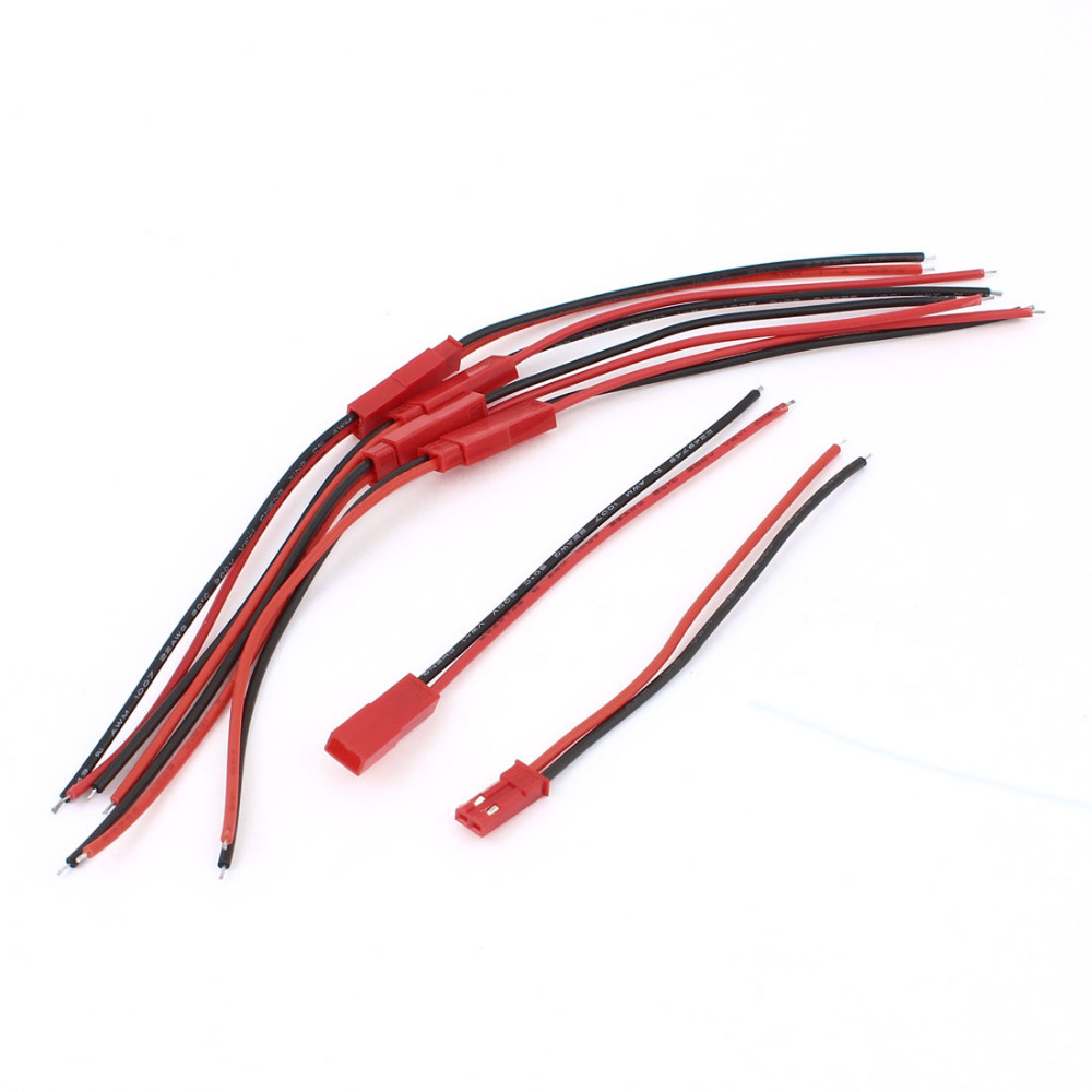 LED Strip 2Pin Male Female Waterproof Connector Cable Wire Red  5 Pairs цена и фото