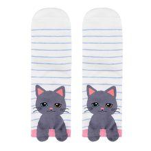 56e72c85d7d Femmes Harajuku De Mode Personnage de Dessin Animé Bouledogue Art  chaussettes en coton Chat Animal Art