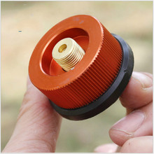 Furnace Head conversion Gold round long gas tank interface flattening  propane adapter stove camping