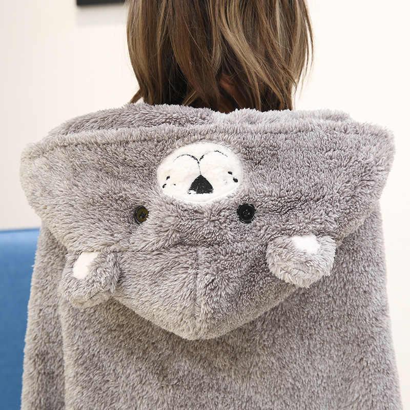 Mantón nórdico de dibujos animados de invierno, manta de lana de Coral, manta para oficina multifuncional