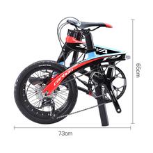 Składany rower opon SAVA 16 cal z włókna węglowego rower dla dzieci Mini miasto rower składany z SHIMANO SORA 3000 9 prędkość grupa sprzętowa hamulec tarczowy tanie tanio Wiosna wideł (niska biegów bez tłumienia) 140-180 cm 9 3 kg 0 1 m3 Unisex Ze stopu aluminium ze stopu aluminium Rama twardego (nie tylny amortyzator)