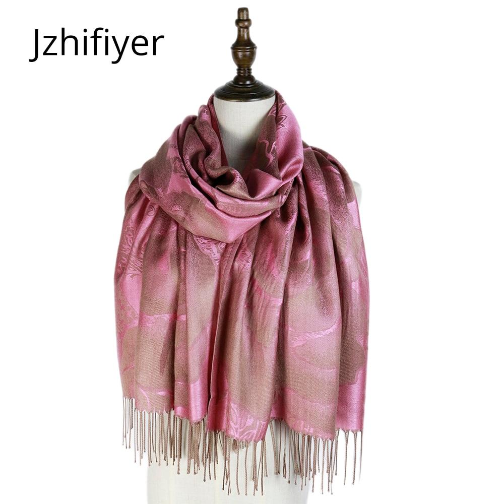 winter mujer jacquard scarf rayon wraps