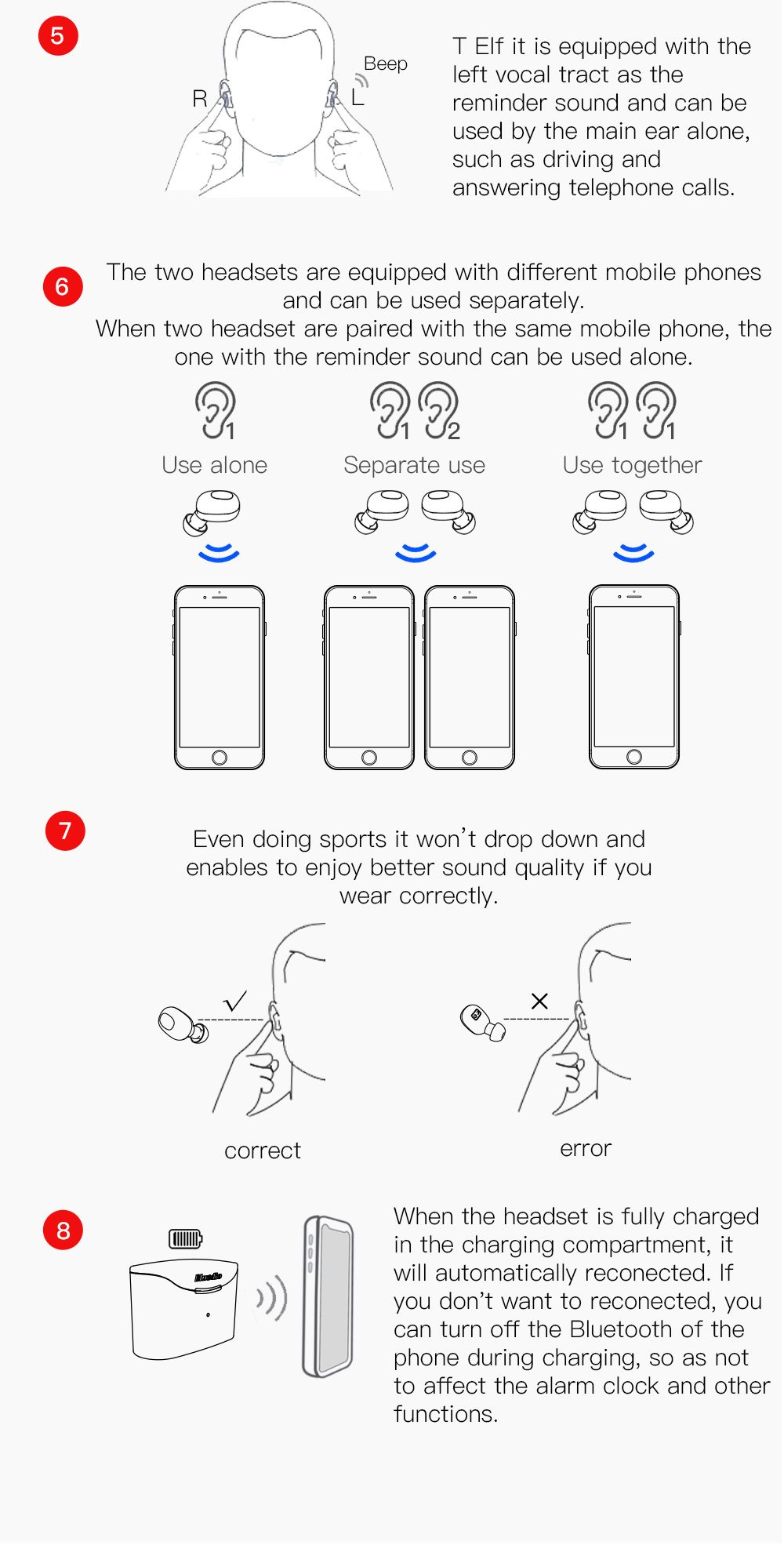 Bluedio T-elf Mini TWS Sports Earbuds And Bluetooth Earphone With Charging Box 17