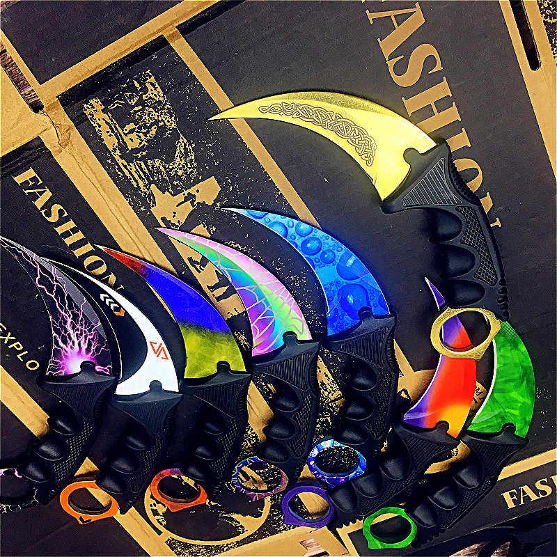 CS gitmek Counter Strike bıçaklar Survival av bıçağı kamp araçları taktik pençe bıçak kelebek eğitim bıçak