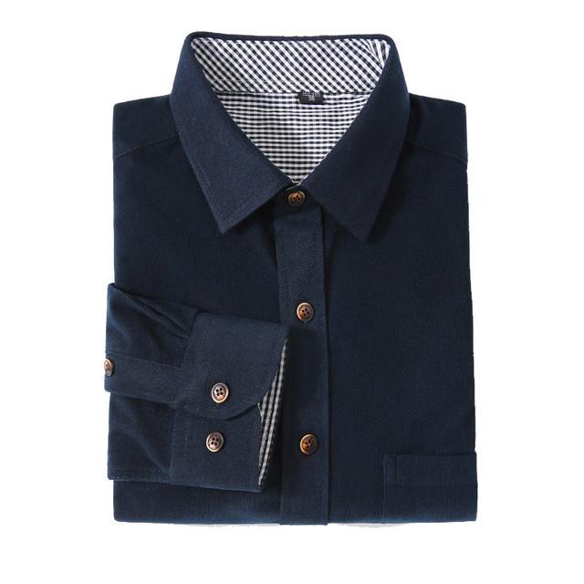 2017 hombres ocasionales camisas de pana color sólido hombre brand clothing camisetas de manga larga otoño invierno retro camisa para hombre yn727
