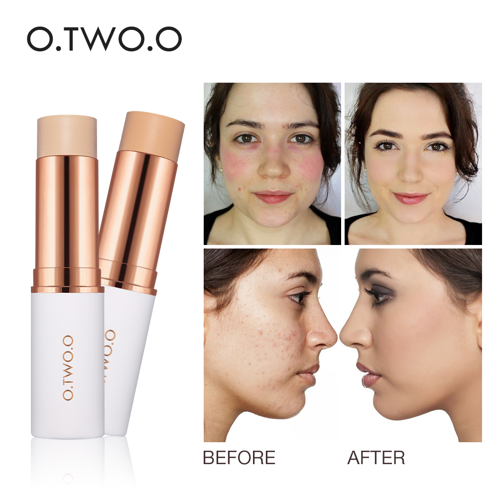 O.TWO.O Magical Concealer Stick Foundation Makeup Full Cover Contour Face Concealer Cream Base Primer Moisturizer Hide Blemish image