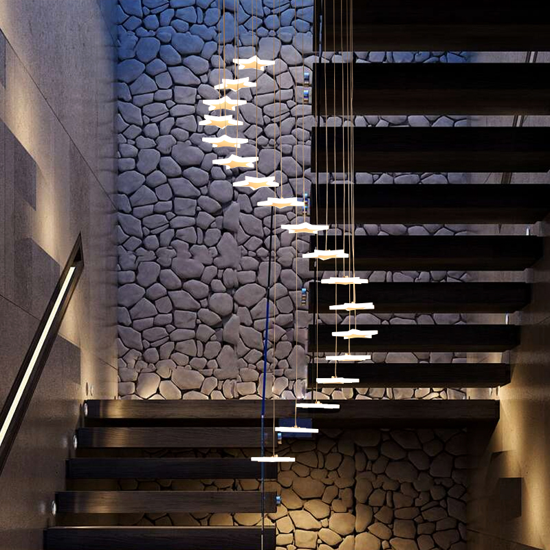 Modern pendant lights for living room foyer room Stair acrylic body LED Surface Mounted Pendant Lamp fixtures Home DecoModern pendant lights for living room foyer room Stair acrylic body LED Surface Mounted Pendant Lamp fixtures Home Deco