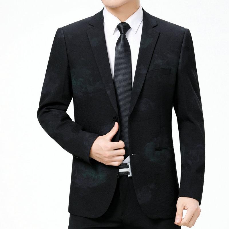 WAEOLSA Stylish Men Slim Fit Blazers Dark Flroal Print Suit Jacket Man Fashion Blazer Masculino Smart Casual Costume Mens Blazer in Blazers from Men 39 s Clothing