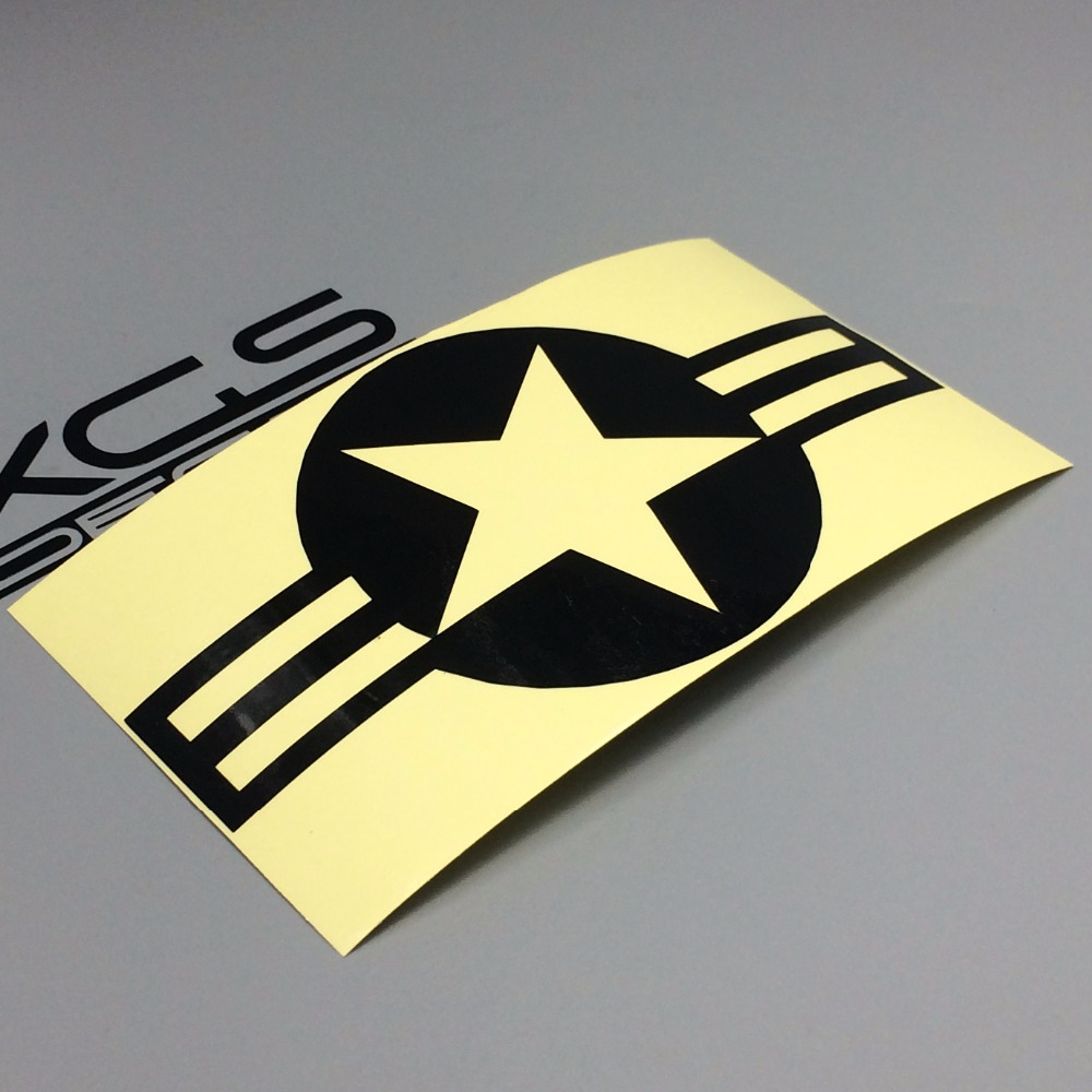 XGS DECAL Car Sticker air force star 15cm x 8.2cm motorcycle car stickers top quality stickers