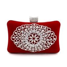 Bolsa Feminina Diamond Flower Crystal Evening Bag Clutch Bags Styling Day Clutches Lady Wedding Purse