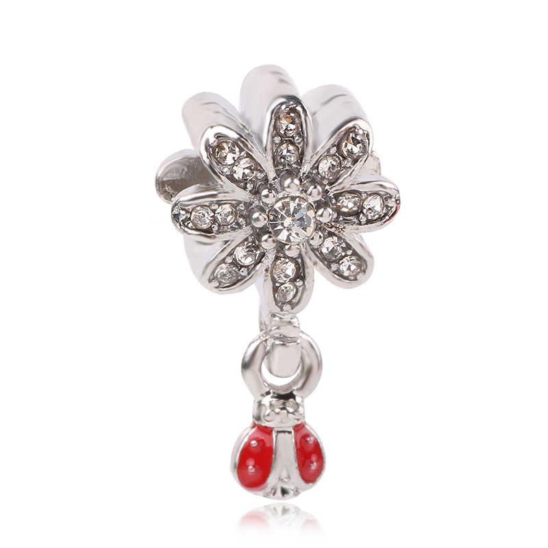 Dodocharms новый цветок мультфильм Микки принцесса бисера Fit оригинальный Pandora Подвески Серебряный браслет брелок ювелирные изделия для женщин мужчин Mak