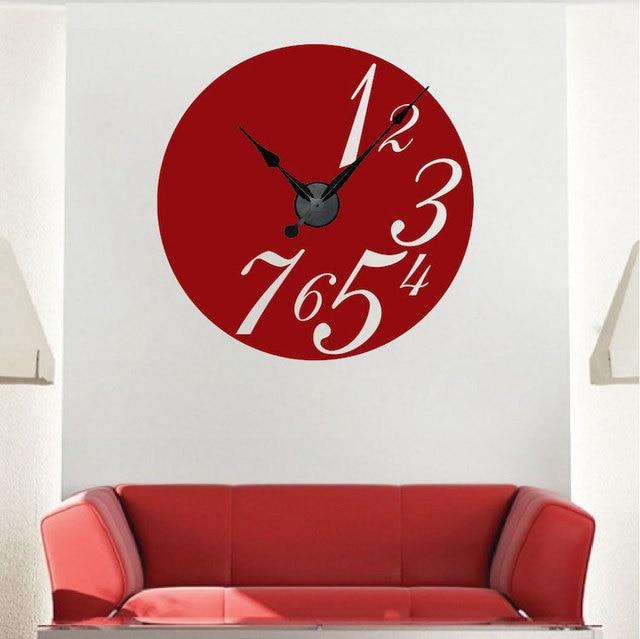 Trendy Moderne Uhr Design Wandaufkleber Mit Entzuckende Uhr