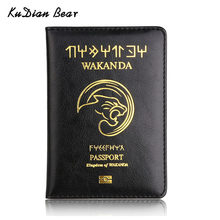KUDIAN BEAR PU Leather Passport Holder Travel Passport Cover Business Minimalist Credit Card Holder Case for Document BIH104PM49(China)