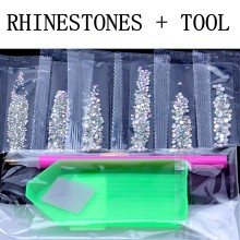 Nail Rhinestone 6G 1500PCS SS3-SS10 Crystal Rhinestones AB Flat Back 3D Non HotFix Nail Art Decoration DIY Tool Glass Manicure(China)
