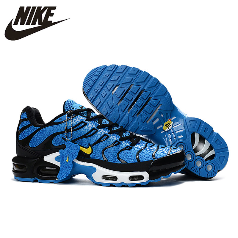 promo code 7609a 274d8 New Arrival Official NIKE AIR MAX TN Men's Breathable Running shoes Sports  Sneakers platform KPU material Tennis shoes 40-46