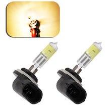PCS 881 894 H27 2 27 W Faróis nevoeiro lâmpadas Lâmpadas de Halogéneo luz do dia correndo estacionamento 12 V Luz Do Carro fonte de luz Diurna DRL Âmbar Amarelo