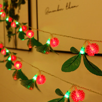 10M 100LED Outdoor Waxberry With Leaf LED String Light 8 Mode Garden Patio Window Wedding Holiday Icicle Garland cadena luces