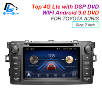 IPS touch screen DSP Android 9.0 2 DIN 4g Lte radio For TOYOTA AURIS Altis COROLLA 2012 2013 GPS DVD player stereo navigation